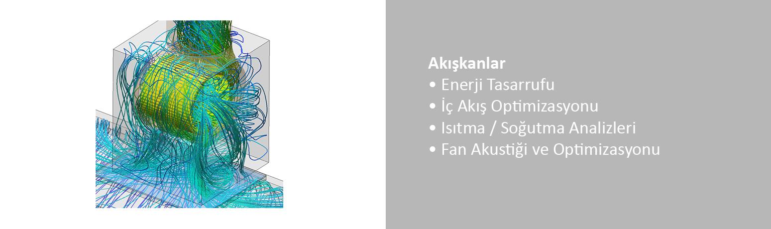 • Enerji Tasarrufu • İç Akış Optimizasyonu • Isıtma / Soğutma Analizleri • Fan Akustiği ve Optimizasyonu